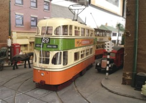 "7mm Tram Model of ""Green Goddess"" in Glasgow Corporation Livery of 1953"